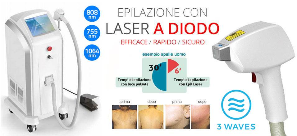 Laser a Diodo 3D epilazione definitiva triplo diodo