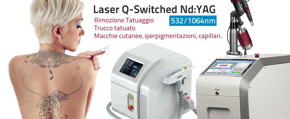 Laser Q-Switched ND Yag Rimozione tatuaggio